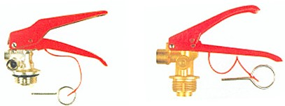 valve for powder or water or foam extinguishers